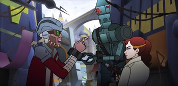 Hondo Ohnaka and IG-88 get captured by Qi'ra in a new 'Forces of Destiny' episode.