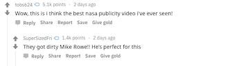 nasa video reactions