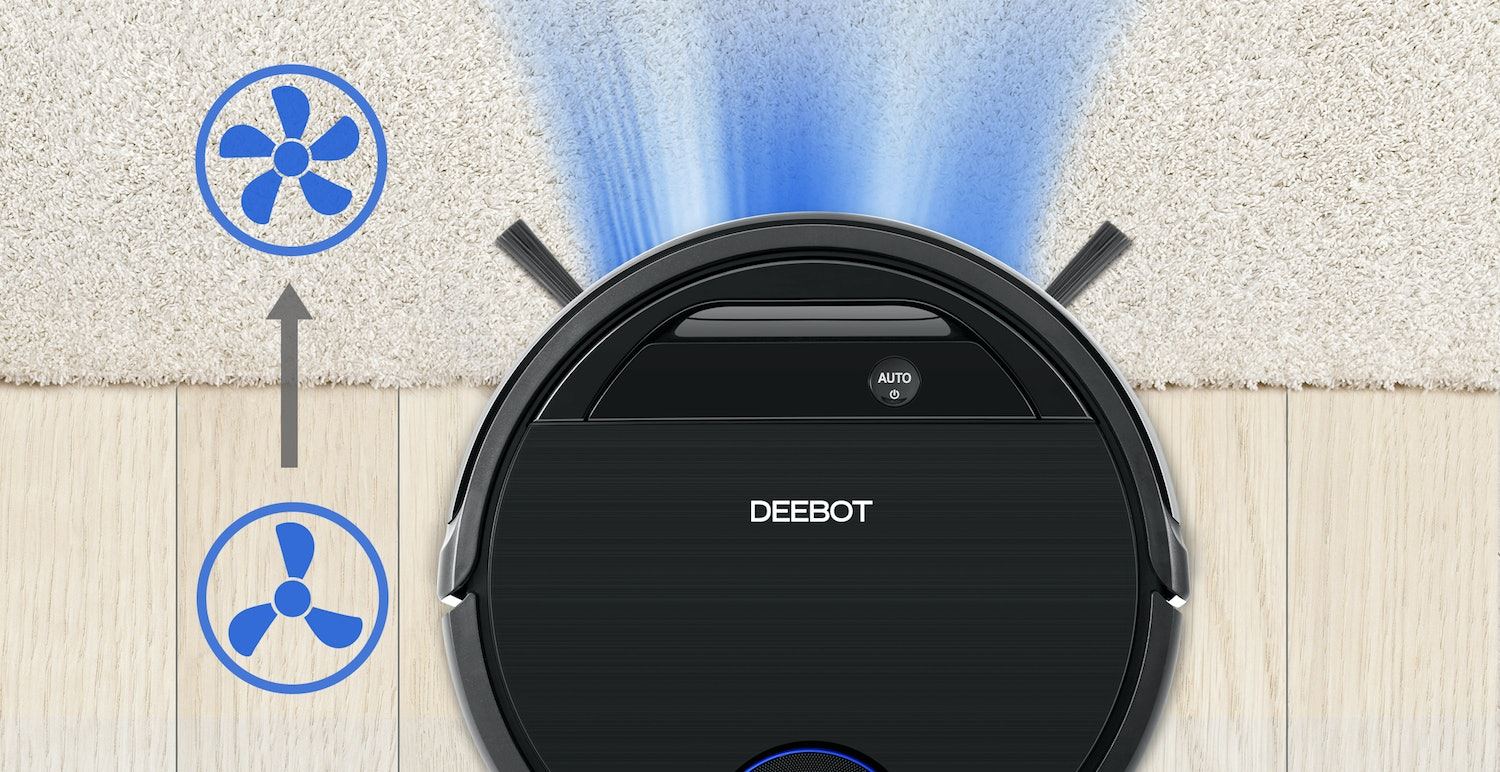 ECOVACS DEEBOT OZMO 930, Smart Robotic Vacuum, for Carpet, Bare Floors, Pet Hair, with Intelligent Mapping, OZMO Mopping Technology, Adaptive Floor Sensing Technology, and Compatible with Alexa