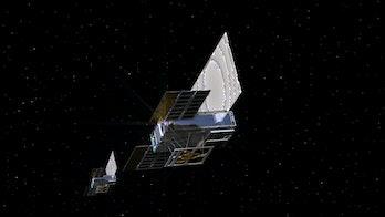 artists rendition of Cubesat