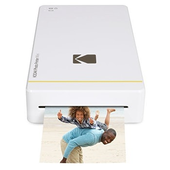 "Kodak Mini Portable Mobile Instant Photo Printer - Wi-Fi & NFC Compatible - Wirelessly Prints 2.1 x 3.4"" Images, Advanced DyeSub Printing Technology (White) Compatible with Android & iOS"