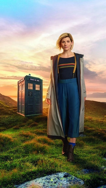 New outfit means new TARDIS this time around.
