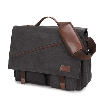 Ravuo Water-Resistant Canvas Satchel Messenger Bag