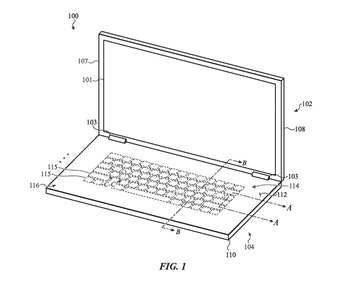 Apple's glass keyboard in action.