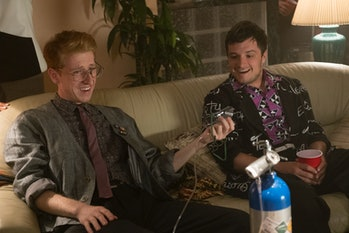Josh parties with a younger version of his father in an episode that feels a lot like 'Back to the F...