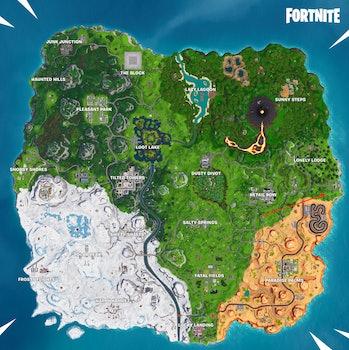Fortnite Season 8 Week 6 treasure map knife point map