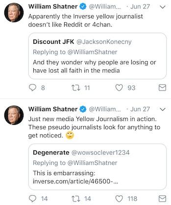 William Shatner's Twitter.