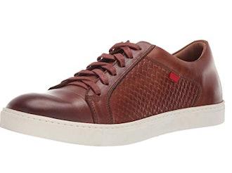 Marc Joseph New York Mens Genuine Leather Waverly Street Criss Cross Sneaker