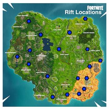'Fortnite' Rift Portal Locations