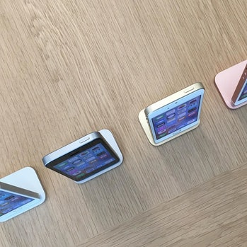 The iPhone SE lined up.