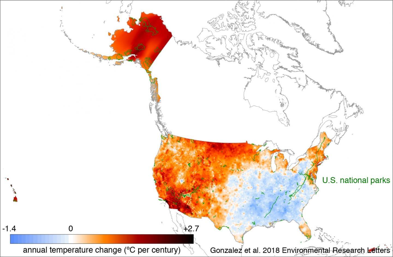temperature map