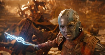 Karen Gillan plays Nebula in 'Avengers: Infinity War'.