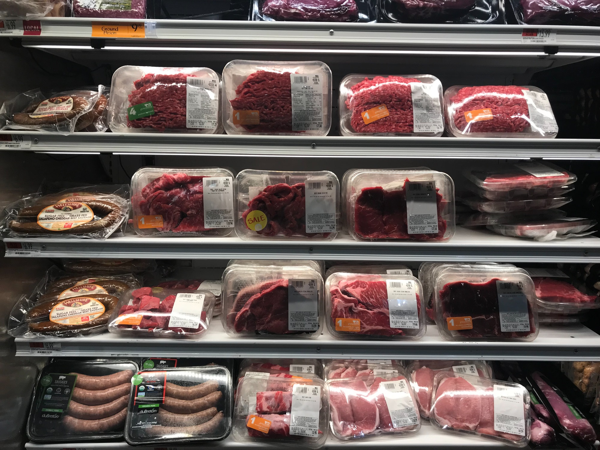 organic meat section whole foods