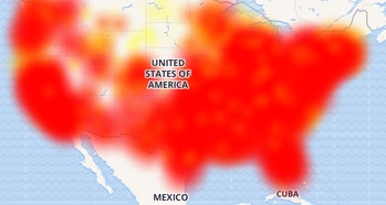 A map of outages.