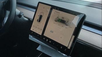 The Model 3's center console.