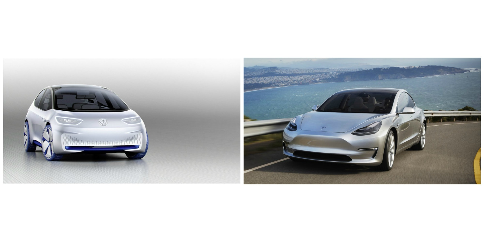 Volkswagen I.D. Tesla Model 3 cars concept electric vehicles