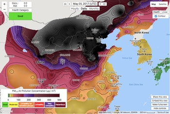 china air quality map beijing