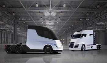 The Tesla Semi and Nikola One.