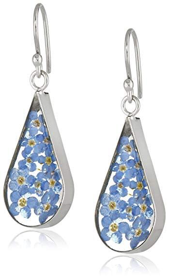 earrings, flowers