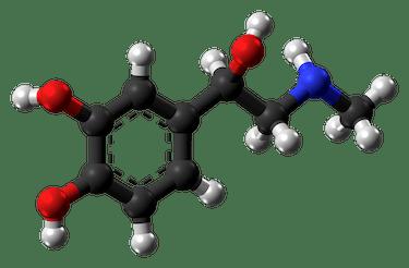Adrenaline molecule ball from xtal