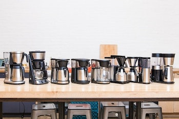The eight machines we tested in 2018. If everyone had this much counter space, choosing between feat...