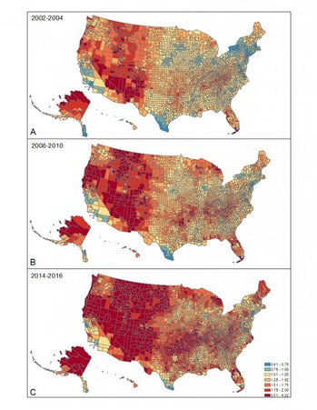 rural suicide rate maps
