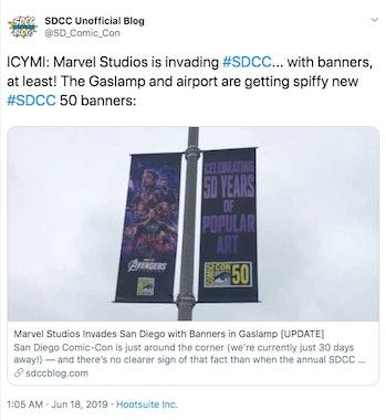 SDCC Marvel 2019 Banner