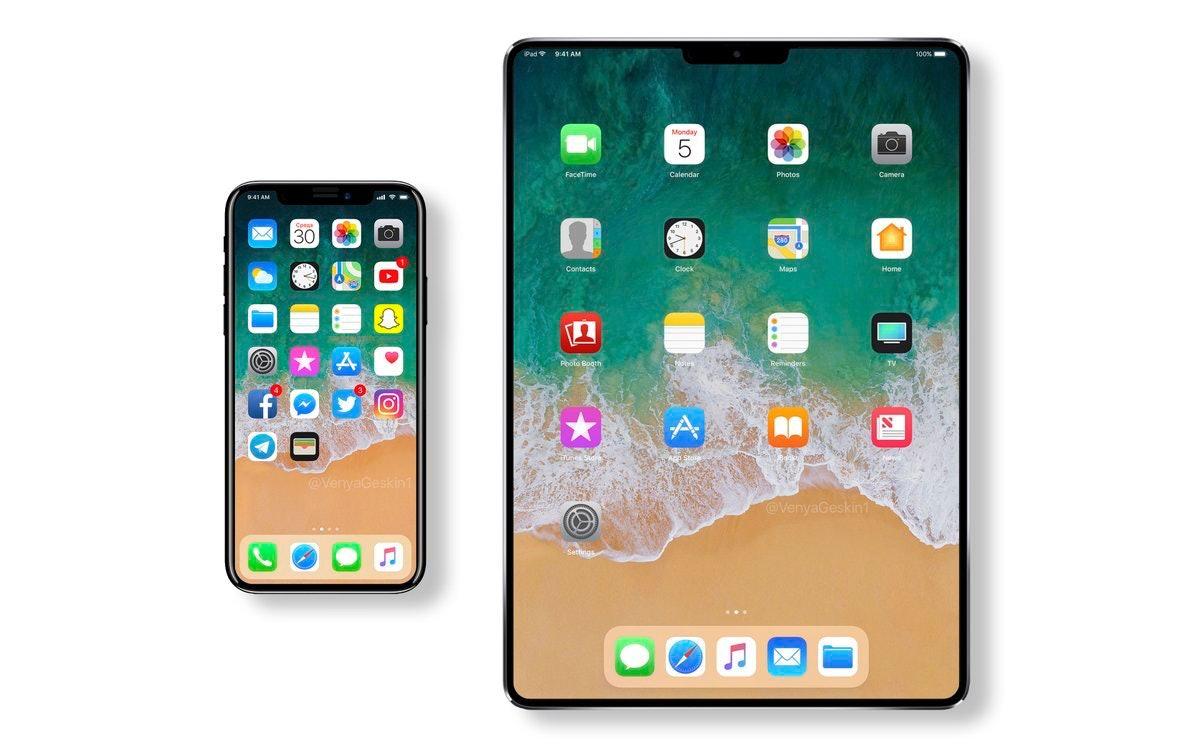Benjamin Geskin's mock-up of a new iPad.