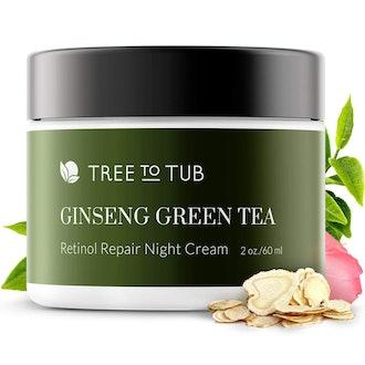 Retinol Sensitive Skin Night Cream for Face by Tree To Tub