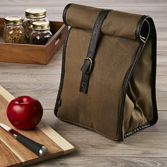 Fit & Fresh Men's Classic Roll Top Insulated Lunch Bag with Ice Pack