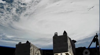 Footage of Hurricane Dorian taken by cameras onboard the ISS.
