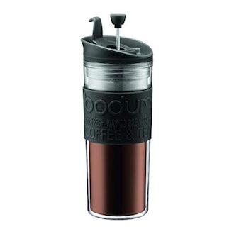 BODUM Tea and Coffee Press Travel Mug - 15 Ounce