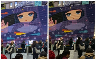 Pixel 4 vs. iPhone 11 Pro black level comparison.