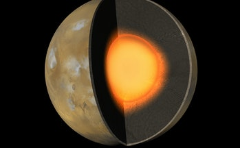 mars liquid iron core