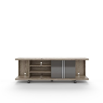 Contemporary Entertainment Center in Nature and Onyx