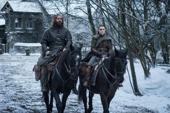Rory McCann and Maisie Williams on 'Game of Thrones' Season 8