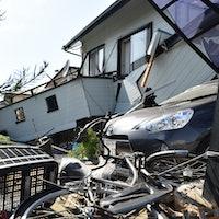 In Wake of Massive Japan Earthquake, Leveled Buildings and Crinkled Roads
