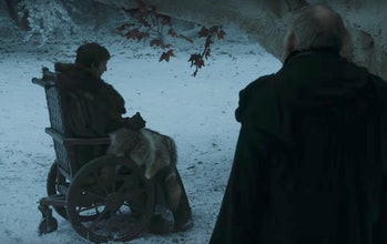 Bran wargs into a bunch of ravens to spy on the Night King.