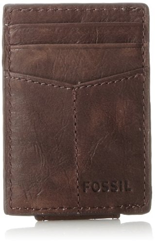 Fossil Men's Ingram Leather Magnetic Card Case Wallet