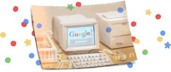 Google's doodle.