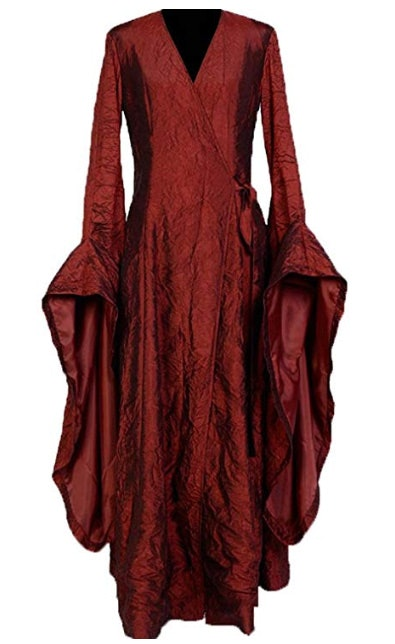 SIDNOR GoT Game of Thrones The Red Woman Melisandre Cosplay Costume