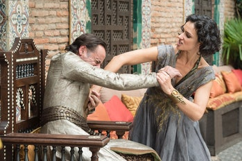 Ellaria Sand betrays Doran Martell and stabs him to death.