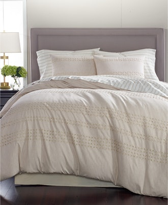 Martha Stewart Collection CLOSEOUT! Eyelet Stripe Cotton 8-Pc. Comforter Sets, Created for Macy's