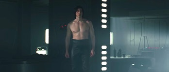 Kylo Ren shirtless.