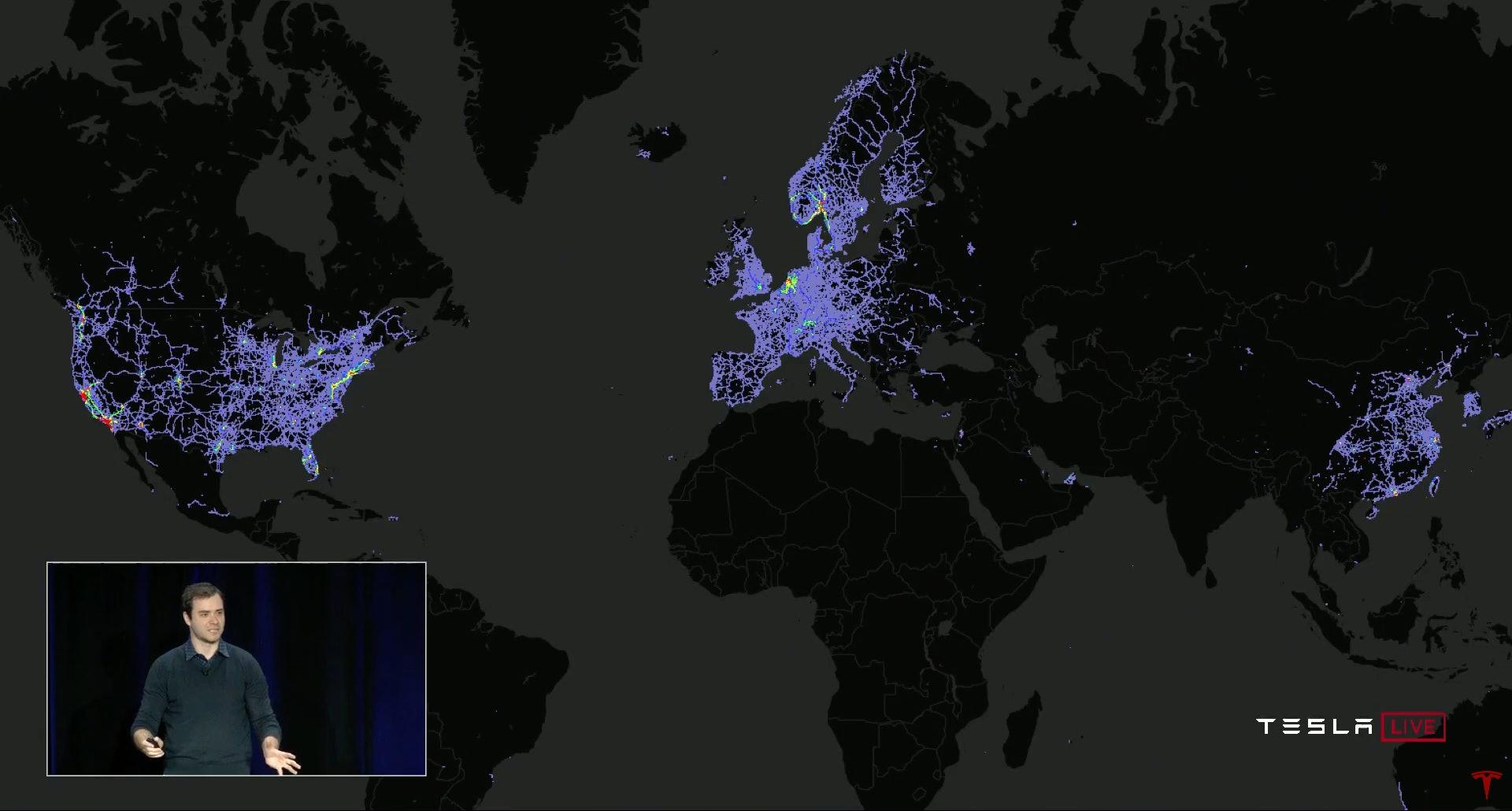 Tesla's global fleet.