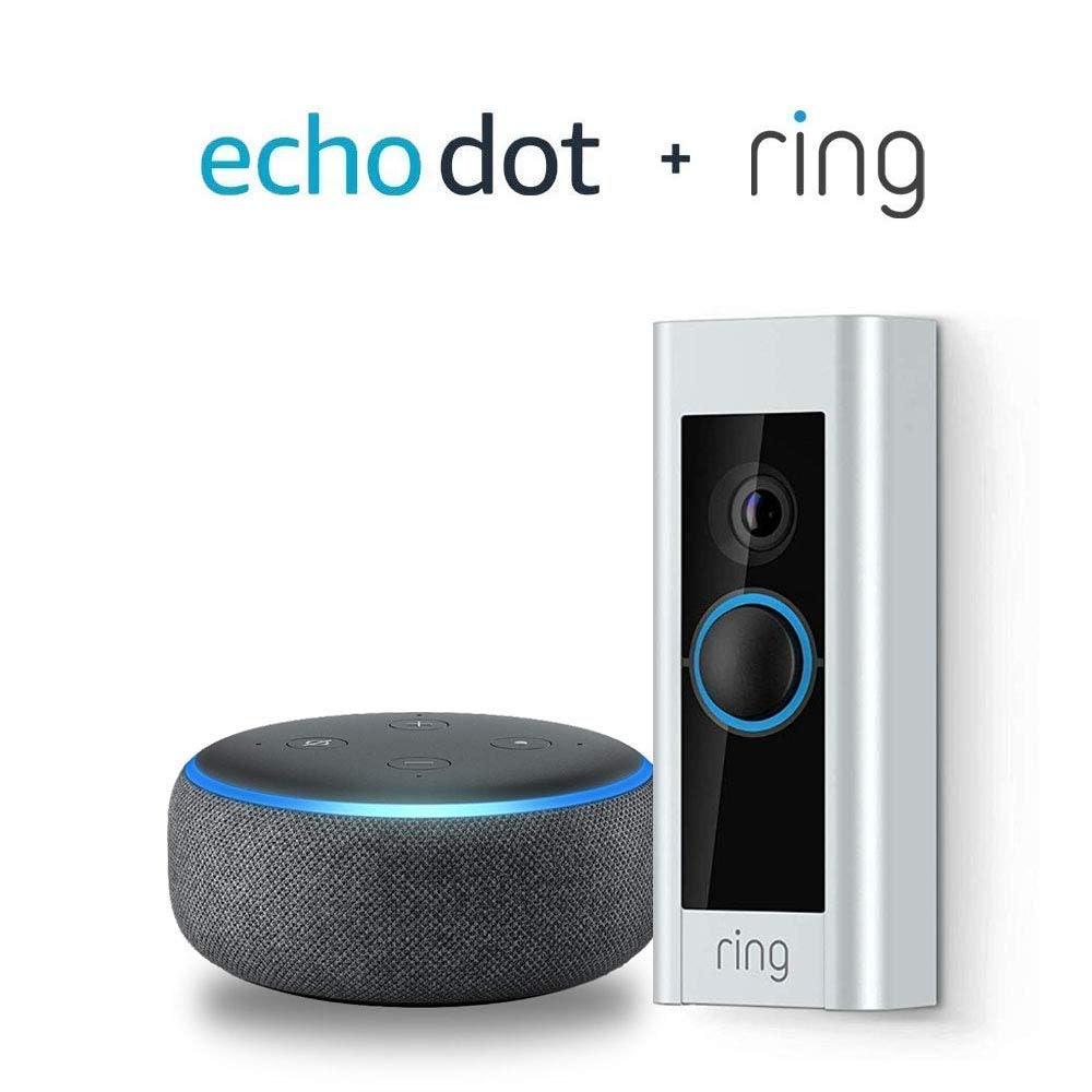 Ring Video Doorbell Pro with Echo Dot (3rd Gen) - Charcoal