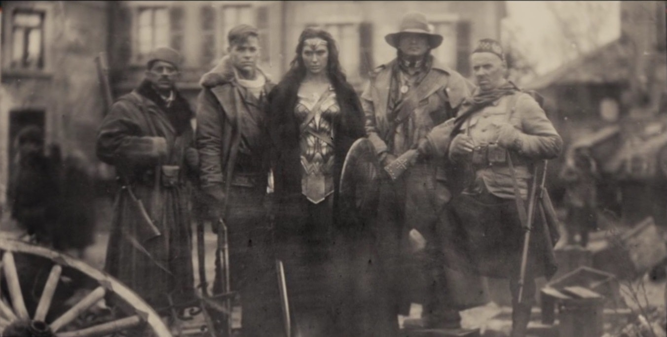 Wonder Woman and Steve fighting in World War I