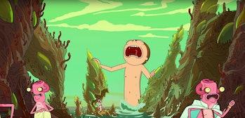 rick and morty giant naked morty