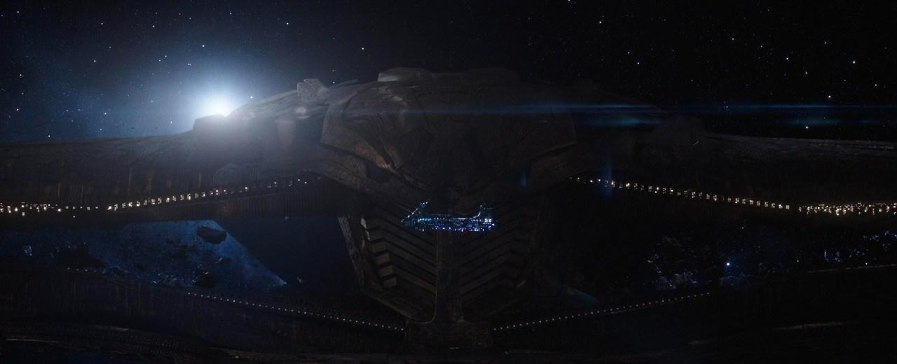 Thanos's ship dwarf's Thor's.