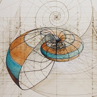 Rafael Araujo Draws Perfect Illustrations by Hand Using Math's Golden Ratio